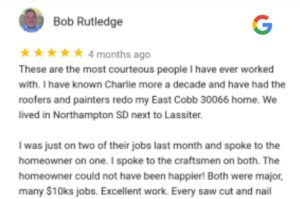 Roofer in Marietta GA roofing reviews