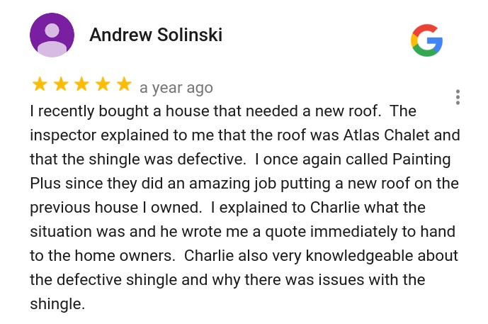 Roofing Review Google 5 Star
